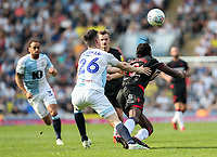 Bolton Wanderers' Clayton Donaldson competing with Blackburn Rovers' Darragh Lenihan <br /> <br /> Photographer Andrew Kearns/CameraSport<br /> <br /> The EFL Sky Bet Championship - Blackburn Rovers v Bolton Wanderers - Monday 22nd April 2019 - Ewood Park - Blackburn<br /> <br /> World Copyright © 2019 CameraSport. All rights reserved. 43 Linden Ave. Countesthorpe. Leicester. England. LE8 5PG - Tel: +44 (0) 116 277 4147 - admin@camerasport.com - www.camerasport.com