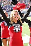 December 30, 2016: Georgia Bulldogs cheerleader in the second half of the AutoZone Liberty Bowl inside Liberty Bowl Memorial Stadium in Memphis, Tennessee. ©Justin Manning/Eclipse Sportswire/Cal Sport Media