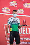 Álvaro Cuadros (ESP) Caja Rural-Seguros RGA most aggressive rider from yesterday's stage at sign on before the start of Stage 14 of La Vuelta d'Espana 2021, running 165.7km from Don Benito to Pico Villuercas, Spain. 28th August 2021.     <br /> Picture: Cxcling   Cyclefile<br /> <br /> All photos usage must carry mandatory copyright credit (© Cyclefile   Cxcling)