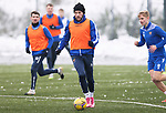 St Johnstone Training…. 15.01.21<br />Stevie May pictured during training at McDiarmid Park ahead of tomorrows game against St Mirren<br />Picture by Graeme Hart.<br />Copyright Perthshire Picture Agency<br />Tel: 01738 623350  Mobile: 07990 594431