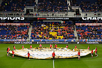 Harrison, NJ - Tuesday April 10, 2018: Center Circle banner prior to leg two of a  CONCACAF Champions League semi-final match between the New York Red Bulls and C. D. Guadalajara at Red Bull Arena. C. D. Guadalajara defeated the New York Red Bulls 0-0 (1-0 on aggregate).