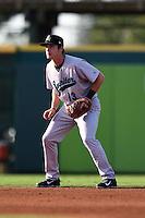 Jupiter Hammerheads shortstop Justin Bohn (13) during a game against the Bradenton Marauders on June 25, 2014 at McKechnie Field in Bradenton, Florida.  Bradenton defeated Jupiter 11-0.  (Mike Janes/Four Seam Images)