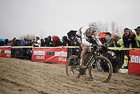 World Champion Wout Van Aert (BEL/Crelan-Vastgoedservice) plowing through the sand<br /> <br /> Noordzeecross - Middelkerke 2016