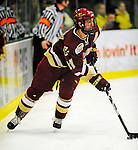 9 January 2009: Boston College Eagles' forward Benn Ferriero, a Senior from Essex, MA, in action during the first game of a weekend series against the University of Vermont Catamounts at Gutterson Fieldhouse in Burlington, Vermont. The Catamounts scored with one second remaining in regulation time to earn a 3-3 tie with the visiting Eagles. Mandatory Photo Credit: Ed Wolfstein Photo