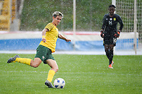 20190227 - LARNACA , CYPRUS : South African defender Janine Van Wyk pictured during a women's soccer game between the South African Banyana Banyana and Finland , on Wednesday 27 February 2019 at the GSZ Stadium in Larnaca , Cyprus . This is the first game in group A for both teams during the Cyprus Womens Cup 2019 , a prestigious women soccer tournament as a preparation on the Uefa Women's Euro 2021 qualification duels and the Fifa World Cup France 2019. PHOTO SPORTPIX.BE | STIJN AUDOOREN