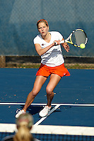 SAN ANTONIO , TX - FEBRUARY 13, 2010: The Abilene Christian University Wildcats vs. The University of Texas At San Antonio Roadrunners Women's Tennis at the UTSA Tennis Center. (Photo by Jeff Huehn)