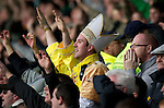 St Johnstone v Celtic..30.10.10  .The 'Pope' in amongst the Celtic fans.Picture by Graeme Hart..Copyright Perthshire Picture Agency.Tel: 01738 623350  Mobile: 07990 594431