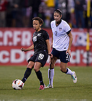 Sarah Gregorius, Yael Averbuch. The USWNT tied New Zealand, 1-1, at an international friendly at Crew Stadium in Columbus, OH.
