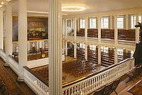 Faneuil Hall interior, Charles Bulfinch architect, Boston, MA