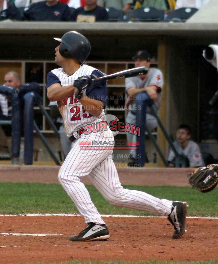 August 31, 2003:  Outfielder Andres Torres of the Toledo Mudhens, Class-AAA affiliate of the Detroit Tigers, during a International League game at Fifth Third Field in Toledo, OH.  Photo by:  Mike Janes/Four Seam Images