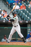 Norfolk Tides designated hitter Christian Walker (14) at bat during a game against the Buffalo Bisons on July 18, 2016 at Coca-Cola Field in Buffalo, New York.  Norfolk defeated Buffalo 11-8.  (Mike Janes/Four Seam Images)