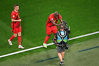 ST PETERSBURG, RUSSIA - JUNE 12 :  Romelu Lukaku forward of Belgium celebrates scoring the 1-0 with the camera pictured during the 16th UEFA Euro 2020 Championship Group B match between Belgium and Russia on June 12, 2021 in St Petersburg, Russia, 12/06/2021 <br /> Photo Photonews / Panoramic / Insidefoto <br /> ITALY ONLY