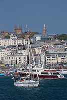 Royaume-Uni, îles Anglo-Normandes, île de Guernesey, Saint Peter Port  // United Kingdom, Channel Islands, Guernsey island, Saint Peter Port