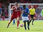 Aberdeen v St Johnstone...31.08.13      SPFL<br /> Nigel Hasselbaink and Clark Robertson<br /> Picture by Graeme Hart.<br /> Copyright Perthshire Picture Agency<br /> Tel: 01738 623350  Mobile: 07990 594431
