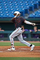 Jay Allen (17) of John Carroll Catholic HS in Fort Pierce, FL playing for the San Francisco Giants scout team during the East Coast Pro Showcase at the Hoover Met Complex on August 2, 2020 in Hoover, AL. (Brian Westerholt/Four Seam Images)