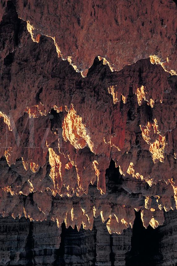 Pink cliffs, Utah, Paunsaugunt plateau, southern Utah, Colorado plateau, red rock, slickrock, slick rock, Claron formation, white pink and red limestones , hoodoos, fluted cliffs. Tropic Utah United States Garfield County, Kane County.