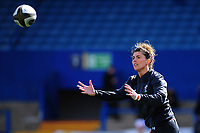 Jess Kavanagh of Wales during the pre match warm up for the Women's Six Nations match between Wales and Ireland at Cardiff Arms Park, Cardiff, Wales, UK. Sunday 17 March 2019