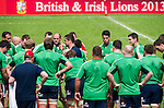 British & Irish Lions players attend a training session at the.Aberdeen Sports Ground ahead their historic match against the Barbarians, on 29 May 2013 in Hong Kong, China. Photo by Victor Fraile / The Power of Sport Images