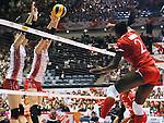 (L-R) Haruka Miyashita, Mai Yamaguchi (JPN), AUGUST 26, 2015 - Volleyball : FIVB Women's World Cup 2015 1st Round between Japan 3-0 Kenya  in Tokyo, Japan. (Photo by Sho Tamura/AFLO SPORT)