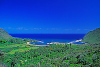 View of the ocean from Halawa Valley, northeast coast, Molokai