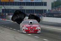April 30, 2011; Baytown, TX, USA: NHRA pro stock driver Greg Anderson during the Spring Nationals at Royal Purple Raceway. Mandatory Credit: Mark J. Rebilas-