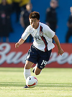 Lee Nguyen dribbles the ball. The USA defeated China, 4-1, in an international friendly at Spartan Stadium, San Jose, CA on June 2, 2007.
