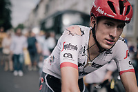 Michael Gogl (AUT/Trek-Segafredo) rolling in after the finish with clear proof of his crash earlier in the race<br /> <br /> 104th Tour de France 2017<br /> Stage 11 - Eymet › Pau (202km)