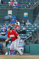 Potomac Nationals outfielder Brandon Miller (20) at bat during a game against the Myrtle Beach Pelicans at Ticketreturn.com Field at Pelicans Ballpark on May 22, 2015 in Myrtle Beach, South Carolina.  Myrtle Beach defeated Potomac 8-4. (Robert Gurganus/Four Seam Images)