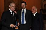ALBERTO QUADRO CURZIO, FEDERICO CARLI E GIANNI LETTA<br /> PREMIO GUIDO CARLI - TERZA  EDIZIONE<br /> PALAZZO DI MONTECITORIO - SALA DELLA LUPA<br /> CON RICEVIMENTO  HOTEL MAJESTIC   ROMA 2012