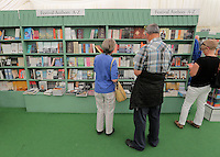 Hay on Wye. Friday 03 June 2016<br />People browse in the book store at the Hay Festival, Hay on Wye, Wales, UK
