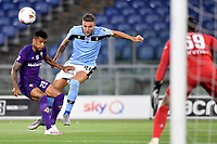 Dalbert of Fiorentina and Sergej Milinkovic-Savic of SS Lazio compete for the ball during the Serie A football match between SS Lazio and ACF Fiorentina at stadio Olimpico in Roma ( Italy ), June 27th, 2020. Play resumes behind closed doors following the outbreak of the coronavirus disease. Photo Antonietta Baldassarre / Insidefoto