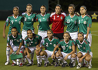 Mexico starting eleven team during the semifinal match of CONCACAF Women's World Cup Qualifying tournament held at Estadio Quintana Roo in Cancun, Mexico. Mexico 2, USA 1.