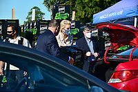 MIAMI, FLORIDA, USA - DECEMBER 22: Ivanka Trump, daughter of U.S. President Donald Trump and White House Senior Advisor, delivers a box with food and greets people in car line during a Farmers to Families Food Box Distribution at King Jesus Ministry on December 22, 2020 in Miami, Florida, United States. Congress overwhelmingly voted Monday to pass a massive $900 billion Covid-19 relief package and government funding bill, this's the government's second effort this year to bring much-needed aid to Americans struggling during the pandemic includes a new round of stimulus checks, an extension of unemployment benefits.  <br /> CAP/MPI10<br /> ©MPI010/Capital Pictures