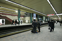 Montreal (QC) CANADA -2010 File Photo - McGill metro (subway) station in downtown Montreal. The station is connected to montreal underground network of malls and tunnels (the world biggest)