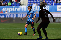 HARRISON, NJ - MARCH 08: Mana Iwabuchi #8 of Japan during a game between England and Japan at Red Bull Arena on March 08, 2020 in Harrison, New Jersey.