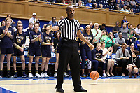 DURHAM, NC - JANUARY 16: Official Eric Brewton during a game between Notre Dame and Duke at Cameron Indoor Stadium on January 16, 2020 in Durham, North Carolina.