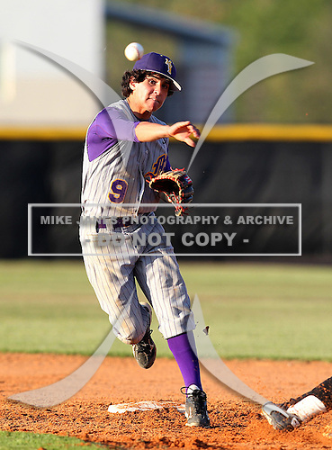 Montverde Academy Eagles varsity baseball against the Olympia High School Titans at Olympia High School on March 7, 2011 in Orlando, Florida.  (Copyright Mike Janes Photography)