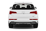 Straight rear view of 2021 Audi Q5 Premium 5 Door SUV Rear View  stock images