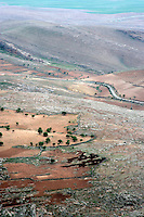 Landscape on the outskirts of Mardin, southeastern Turkey, looking towards the Syrian plains