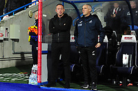 Steve Cooper Head Coach of Swansea City and Mike Marsh, assistant first team coach for Swansea City during the Sky Bet Championship match between Huddersfield Town and Swansea City at The John Smith's Stadium in Huddersfield, England, UK. Tuesday 26 November 2019