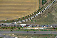 Traffic jam I-25 south of Ft. Collins, Colorado. Aug 15, 2014.  812436