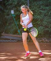 Hilversum, Netherlands, August 6, 2018, National Junior Championships, NJK, Jet Kramer - Evi Roobol<br /> Photo: Tennisimages/Henk Koster