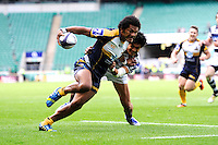 Henry Speight of the Brumbies scores a try during the final of the World Club 7s Cup at Twickenham on Sunday 18th August 2013 (Photo by Rob Munro)