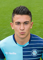 Luke O'Nien of Wycombe Wanderers during the Wycombe Wanderers 2016/17 Team & Individual Squad Photos at Adams Park, High Wycombe, England on 1 August 2016. Photo by Jeremy Nako.