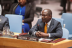 Security Council meeting on Peace and security in Africa.<br /> The global response to the 2013 Ebola virus disease outbreak.