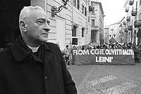 - Mons. Luigi Bettazzi, bishop of Ivrea, participates to a demonstration of the Olivetti workers against the closing of the plant (January 1992)<br /> <br /> - Mons. Luigi Bettazzi, vescovo di Ivrea, partecipa ad una manifestazione dei lavoratori Olivetti contro la chiusura dello stabilimento (gennaio 1992)