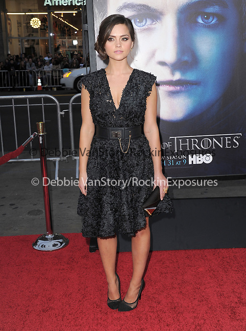 Jenna-Louise Coleman at HBO's L.A. Premiere of Game of Thrones  held at The Grauman's Chinese Theater in Hollywood, California on March 18,2013                                                                   Copyright 2013 Hollywood Press Agency