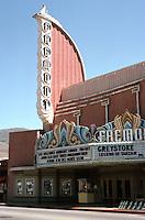 Movie Theatre: San Luis Obispo, CA. Fremont Theater, c. 1941. S. Charles Lee, Architect. Photo '84.