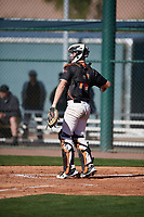 Adam Chadwick (14) of Vacaville High School in Vacaville, California during the Baseball Factory All-America Pre-Season Tournament, powered by Under Armour, on January 13, 2018 at Sloan Park Complex in Mesa, Arizona.  (Mike Janes/Four Seam Images)