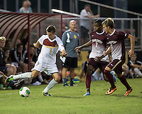 The Winthrop University Eagles played the College of Charleston Cougars at Eagles Field in Rock Hill, SC.  College of Charleston broke the 1-1 tie with a goal in the 88th minute to win 2-1.  Cody Winter (2), Adan Noel (7), Adam Purvis (13)
